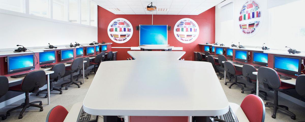 ICT Suite at Urmston Grammar School